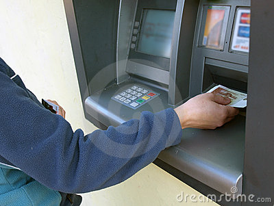 ATM - receiving money