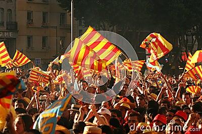 Atmosphere in Perpignan Editorial Stock Photo