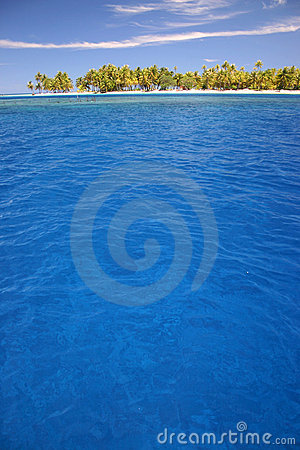 Atoll Rangiroa island