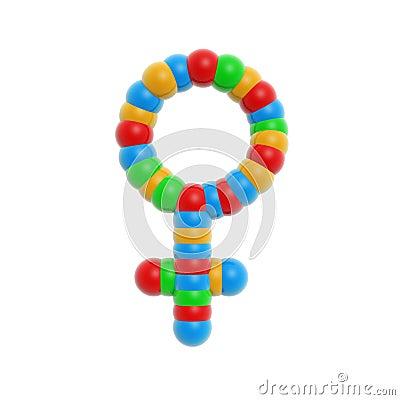 Atom female symbol