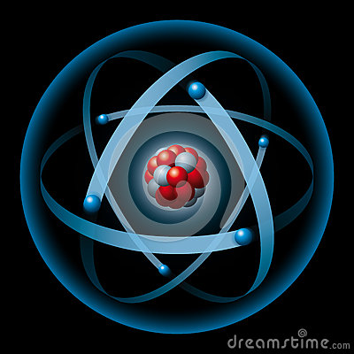 Atom Having Nucleus And Electrons Stock Image Image