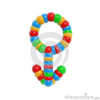 Atom male symbol