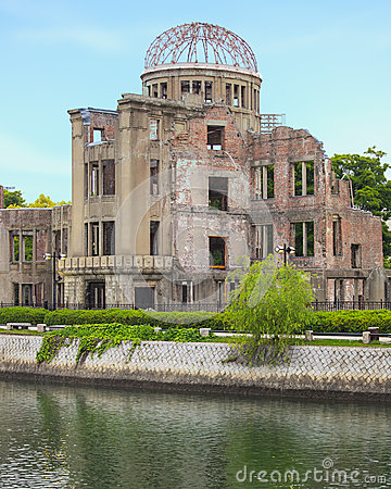 Free Atomic Bomb Dome In Hiroshima Peace Memorial Park. Unesco. Japan Royalty Free Stock Images - 28239679