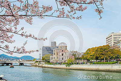 Atomic dome in Hiroshima on a sunny day, Hiroshima Japan
