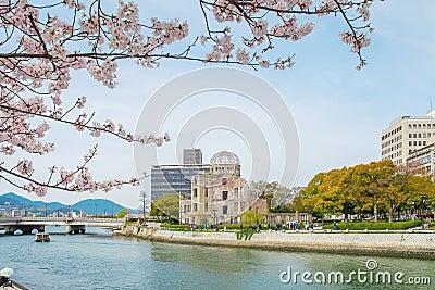 Atomic dome in Hiroshima on a sunny day, Hiroshima Japan