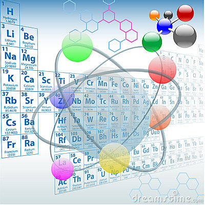 Atomic elements periodic table chemistry design