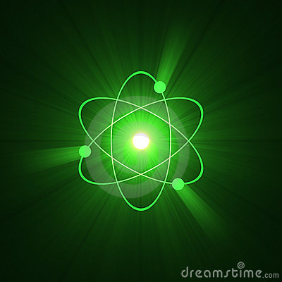Free Atomic Sign Atom Structure Halo Stock Photography - 3423642