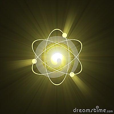 Atomic sign atom structure light halo