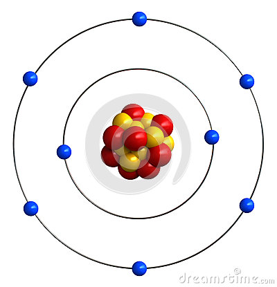 o2 structure  3d render of atomic structure
