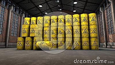 Atomic Waste Yellow Barrels