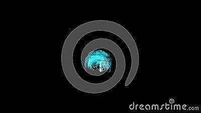 atomo nucleare, polvere del fumo, fuochi d'artificio di esplosione 4k delle particelle di energia di incidenti di potere video d archivio