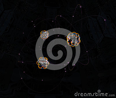 Atoms In Space Royalty Free Stock Image - Image: 27013476