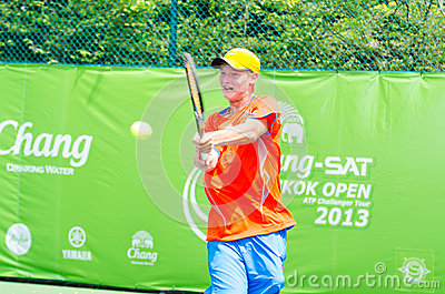ATP Challenger Chang - SAT Bangkok Open 2013 Editorial Stock Photo