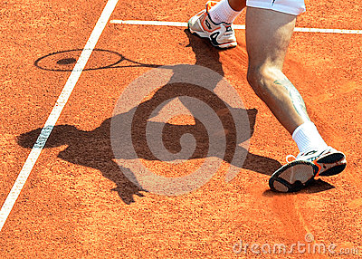 ATP Tennis player shadow