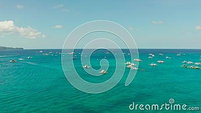 Atração marítima no resort de praia Ilhas Boracay Filipinas vídeos de arquivo