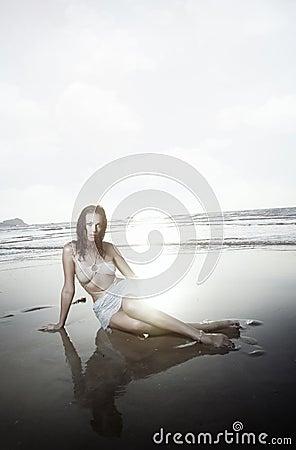 Atractivo en la playa