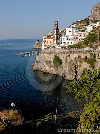 Free Atrani Church And Belltower Royalty Free Stock Photography - 3048357