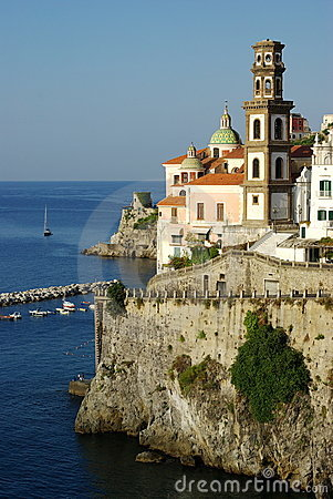 Free Atrani Cupole And Belltower Royalty Free Stock Photography - 3048437