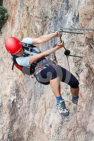 Através da escalada de ferrata/Klettersteig