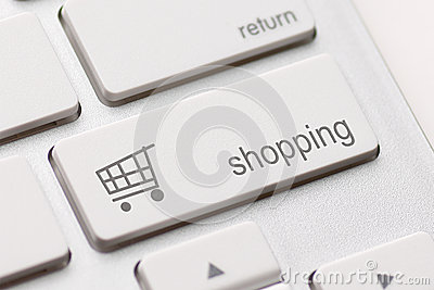 Att shoppa skriver in tangent