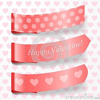Attach valentine ribbons.