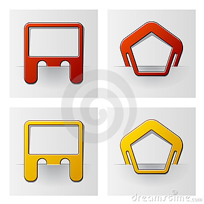Attached frames - pentagon and rectangle