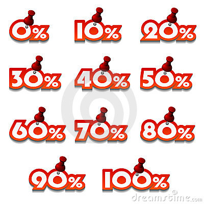 Attached promotional percentage numbers