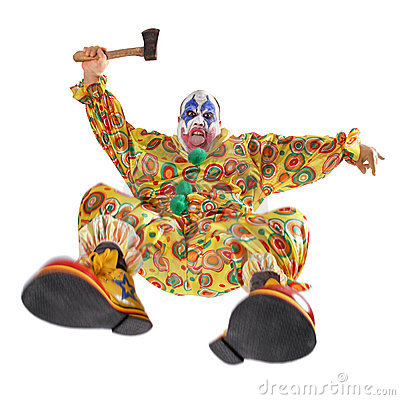 Free Attack Of The Evil Clown Royalty Free Stock Photos - 12202688