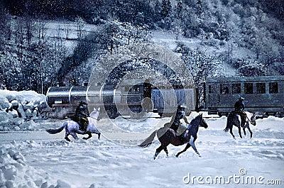 Attack to the train