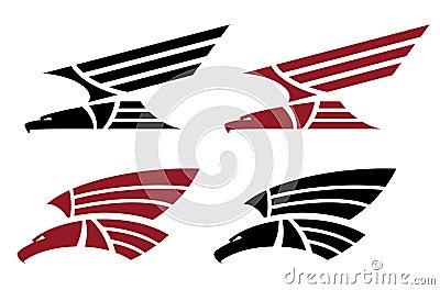 Attacking eagle set  for tattoo design