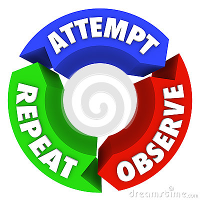Attempt Observe Repeat Success Steps Diagram Advice