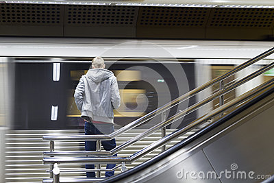Attente du train