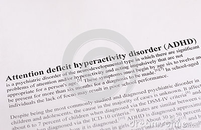 Attention deficit hyperactivity disorder or ADHD. medical or healthcare background
