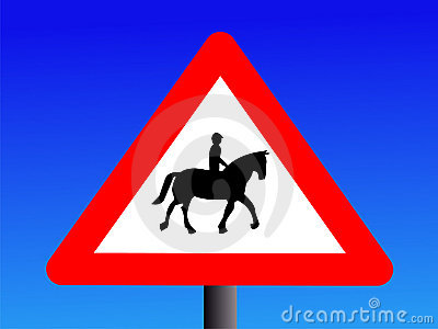 Attention horse riders sign