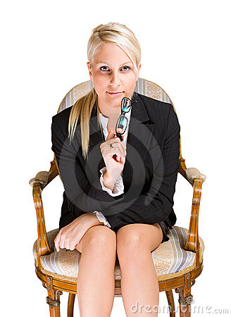 Attentive business woman
