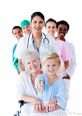 Free Attentive Medical Team Taking Care Of A Senior Royalty Free Stock Photography - 13765757