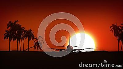 Atterraggio di aeroplano in Africa stock footage