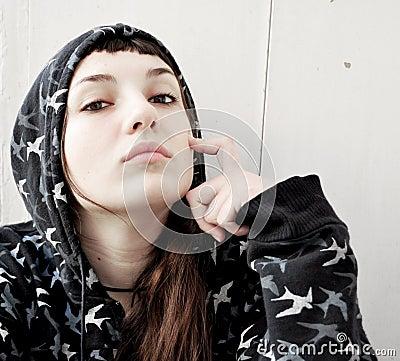 Free Attitude Girl Stock Photography - 18149292