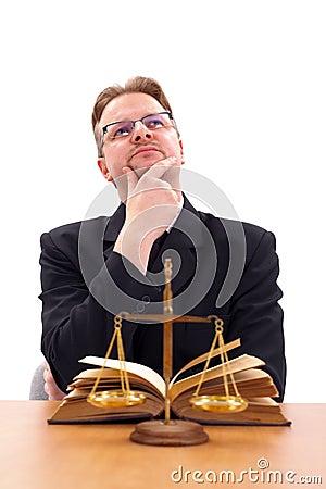 Attorney thinking