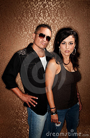 Attractibe Hispanic Couple