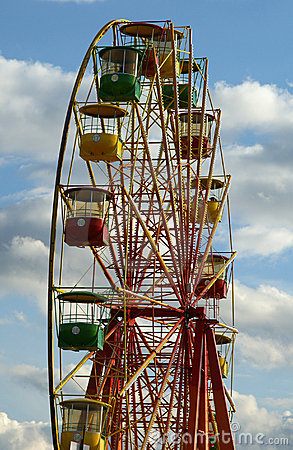 Attraction (Carousel) Ferris Wheel Stock Images - Image: 15928384