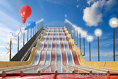 Attraction of chute