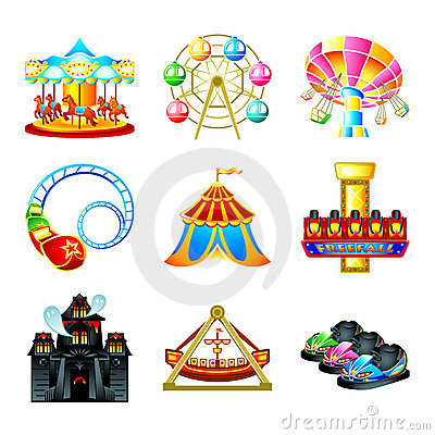 Free Attraction Icons Royalty Free Stock Images - 19195979