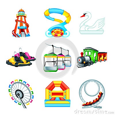 Free Attraction Icons || Set II Royalty Free Stock Image - 30255356
