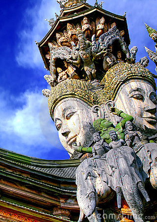 Free Attraction In Pattaya- Face Of God Stock Photography - 6401212