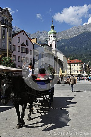 Attraction at Innsbruck s Square Editorial Photo