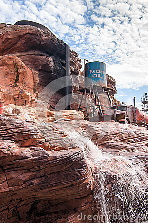 Attractions park Disney in Paris Editorial Image