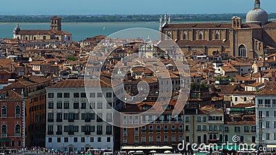 Attractions touristiques et vieille architecture à Venise, vue panoramique, tourisme clips vidéos