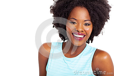 Woman toothy smile