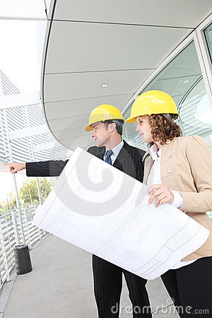 Attractive Architects on Construction Site